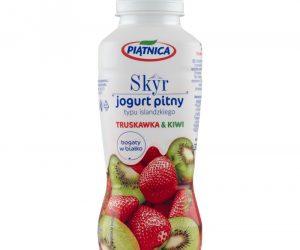 Piątnica Skyr jogurt pitny typu islandzkiego truskawka & kiwi 330 ml