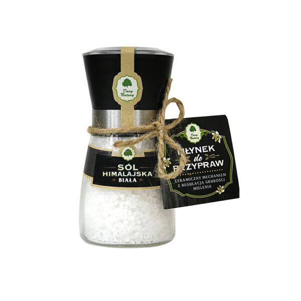 Sól Himalajska Biała (W MŁYNKU) 190g - Dary Natury